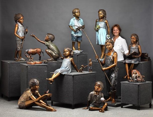 Bronze Sculpture | Sculpture by Teresa Hansen | Bronze Child Sculptures | Monumental Bronze Sculpture | Teresa Hansen Studio | Teresa Hansen Studios
